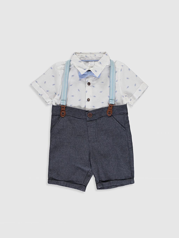 Mavi Erkek Bebek Takım 4'lü 0S9290Z1 LC Waikiki