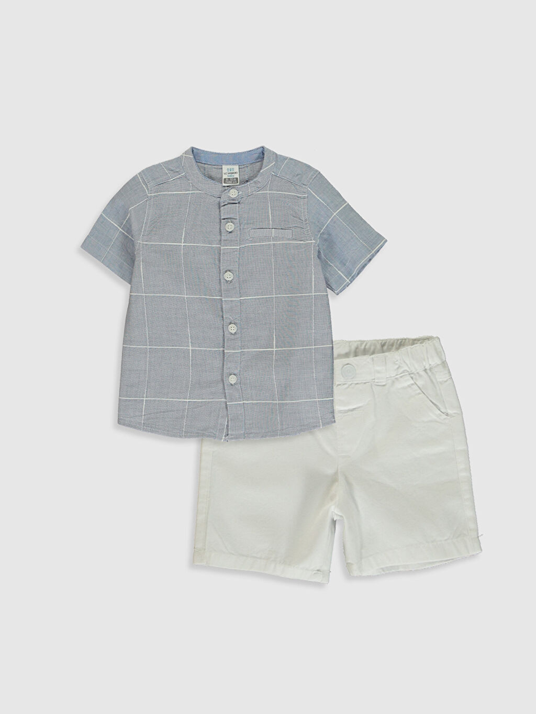 Mavi Erkek Bebek Gömlek ve Şort 0S9761Z1 LC Waikiki