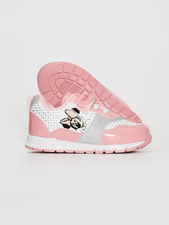 Kız Bebek Kız Bebek Minnie Mouse Baskılı Günlük Spor Ayakkabı