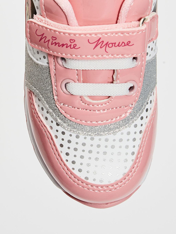 LC Waikiki Pembe Kız Bebek Minnie Mouse Baskılı Günlük Spor Ayakkabı