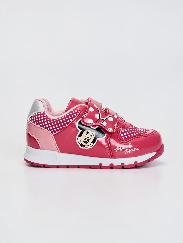 Pembe Kız Bebek Minnie Mouse Baskılı Günlük Spor Ayakkabı 0SG359Z1 LC Waikiki