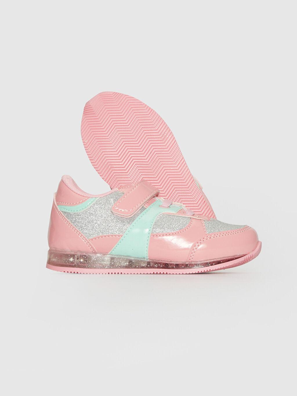 Kız Bebek Kız Bebek Sim Detaylı Işıklı Spor Ayakkabı