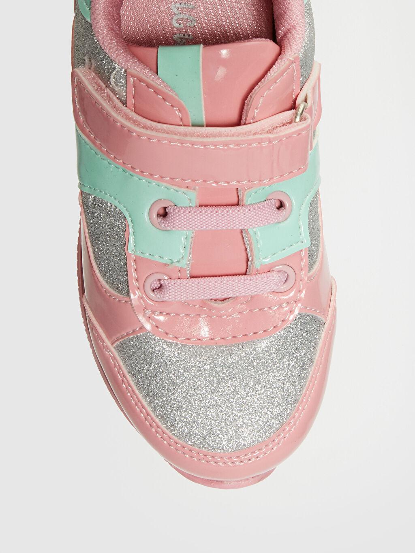 LC Waikiki Pembe Kız Bebek Sim Detaylı Işıklı Spor Ayakkabı