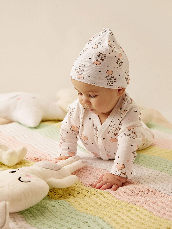 Pembe Kız Bebek Desenli Bere 2'li 0SG532Z1 LC Waikiki