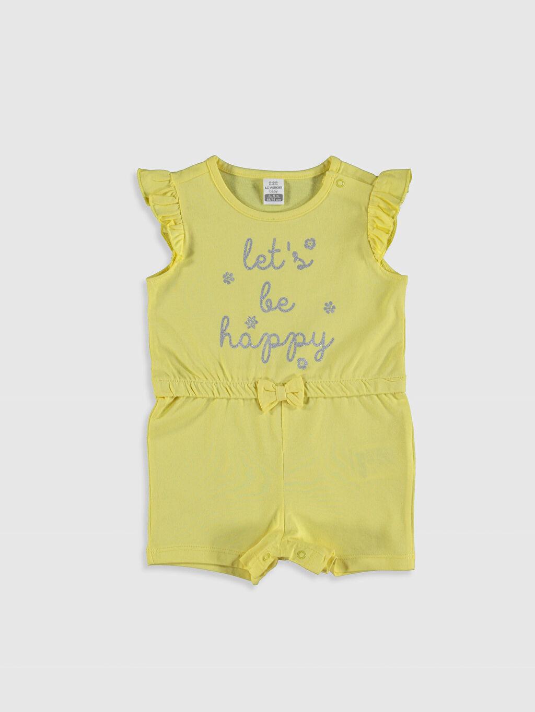 Sarı Kız Bebek Baskılı Tulum 0SG774Z1 LC Waikiki