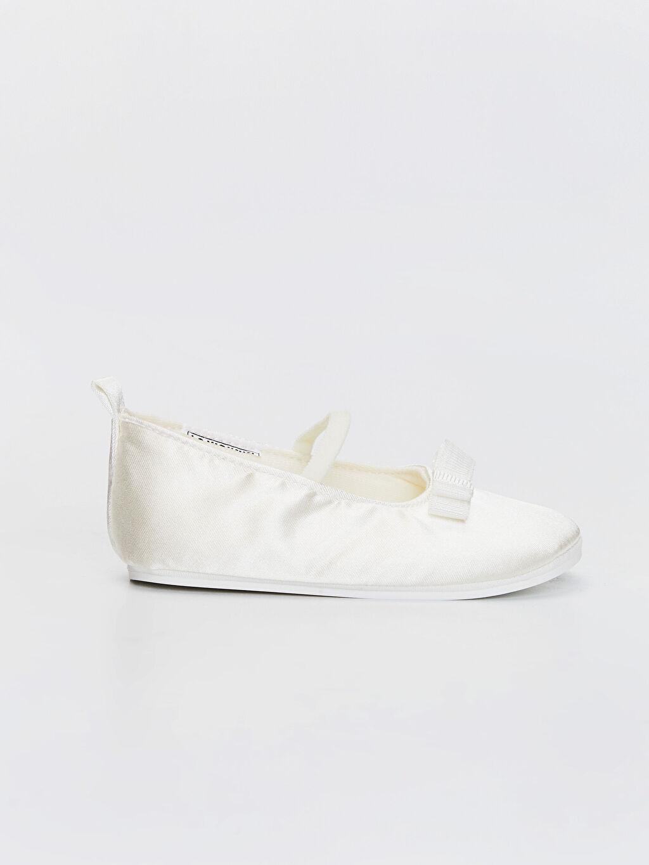 Ekru Kız Bebek Fiyonk Detaylı Yürüme Öncesi Babet Ayakkabı 0SH306Z1 LC Waikiki