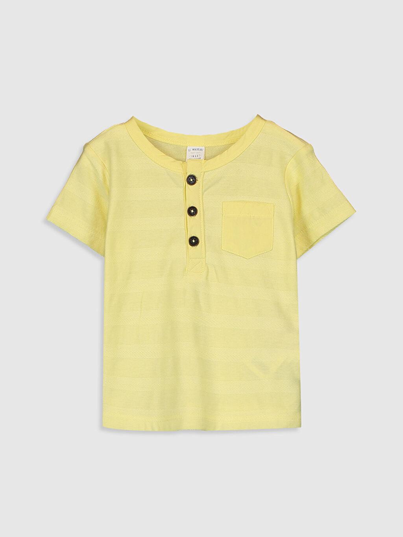 Sarı Erkek Bebek Pamuklu Baskılı Tişört 0SH463Z1 LC Waikiki