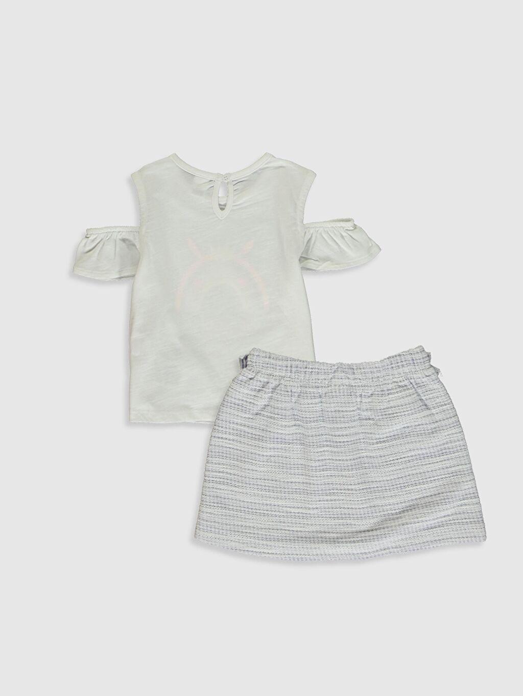 %71 Pamuk %29 Polyester %100 Pamuk  Kız Bebek Takım 2'li