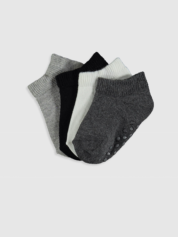 Çok Renkli Erkek Bebek Patik Çorap 4'lü 0SH713Z1 LC Waikiki