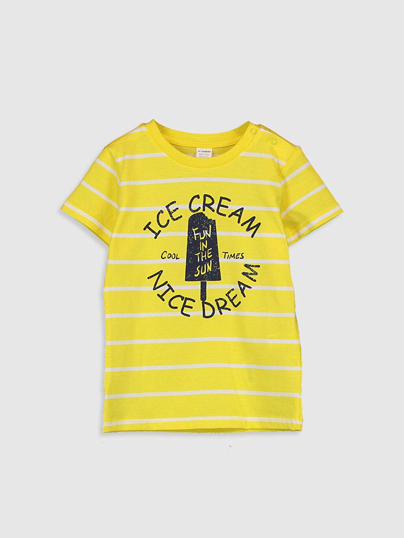 Sarı Erkek Bebek Baskılı Pamuklu Tişört  0SI105Z1 LC Waikiki