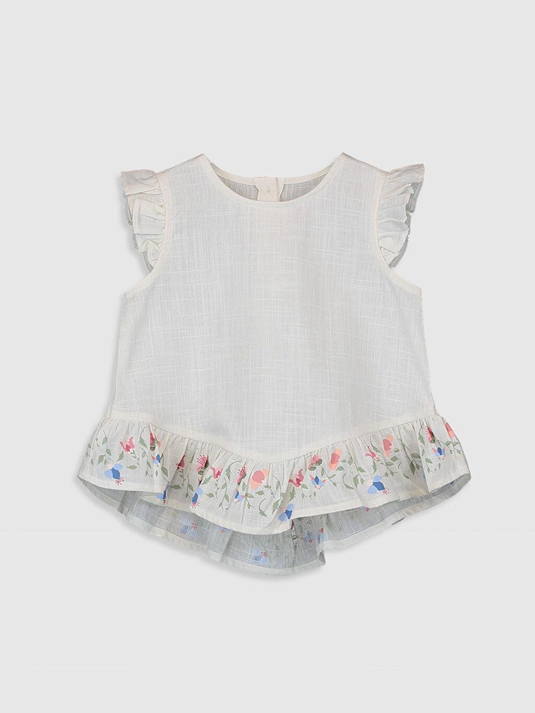 Ekru Kız Bebek Keten Bluz 0SI739Z1 LC Waikiki
