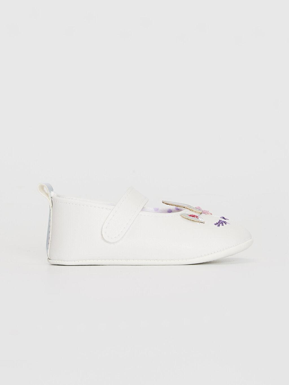 Beyaz Kız Bebek Nakış Detaylı Babet Ayakkabı 0SI780Z1 LC Waikiki