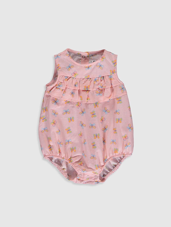 Pembe Kız Bebek Desenli Çıtçıtlı Body 0SJ104Z1 LC Waikiki
