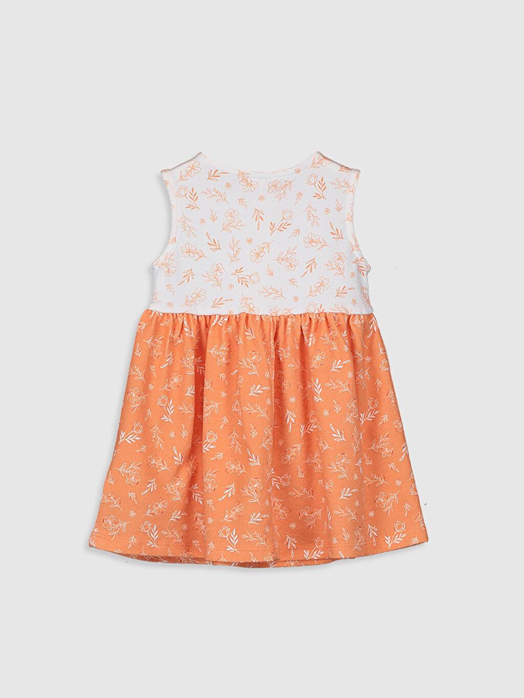 %100 Pamuk Standart Baskılı Günlük Elbise Süprem Kız Bebek Desenli Elbise
