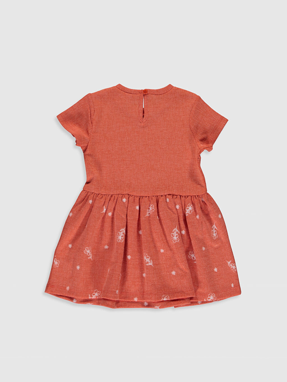 %85 Polyester %13 Viskoz %2 Elastan Desenli Kız Bebek Jakar Elbise