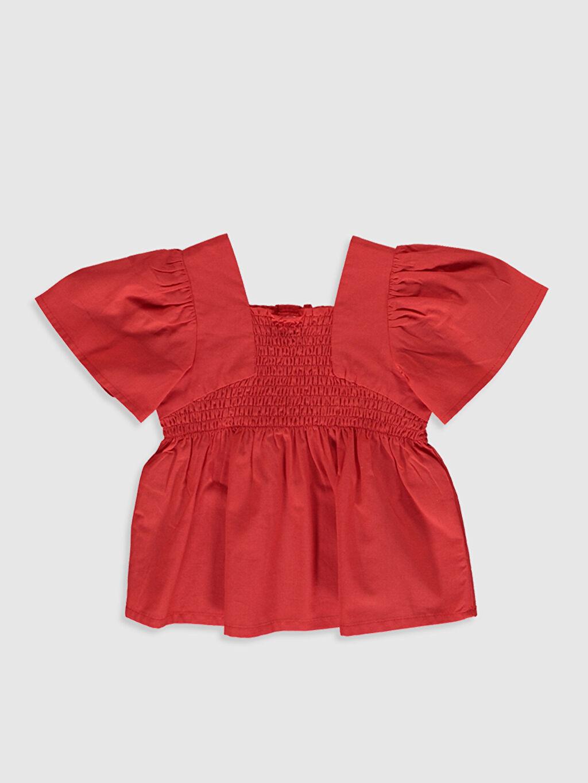 Kırmızı Kız Bebek Pamuklu Basic Bluz 0SJ685Z1 LC Waikiki