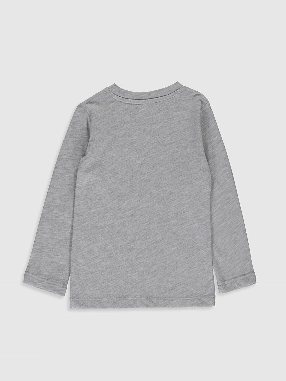 %50 Pamuk %50 Polyester Normal Düz Uzun Kol Tişört Bisiklet Yaka Erkek Bebek Basic Tişört