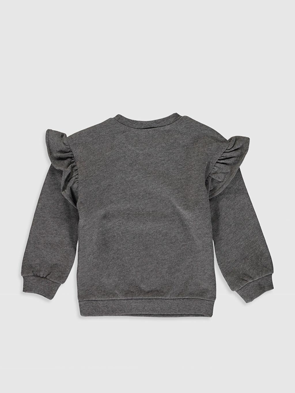 %59 Pamuk %41 Polyester Uzun Kol Süprem A Kesim Smart Casual Sweatshirt Standart Baskılı Bisiklet Yaka Sweatshirt