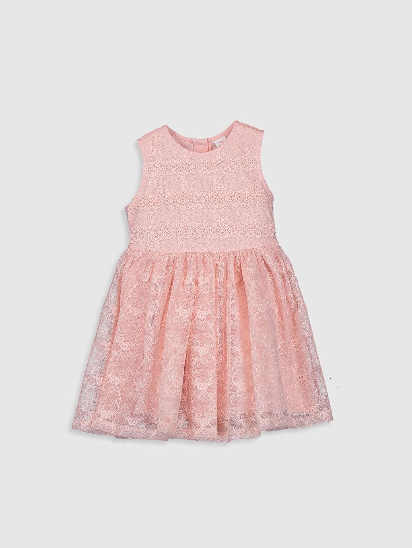 Pembe Kız Bebek Dantel Elbise 0SK337Z1 LC Waikiki