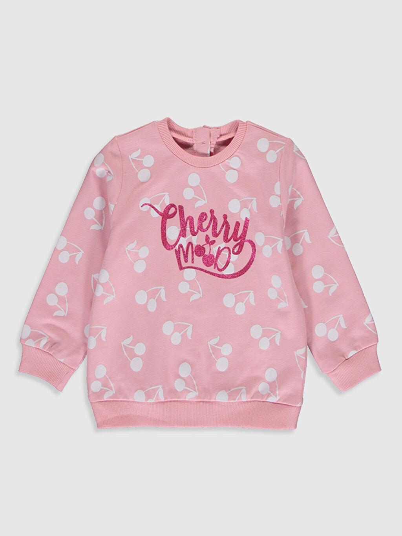 Pembe Kız Bebek Baskılı Sweatshirt 0SL224Z1 LC Waikiki