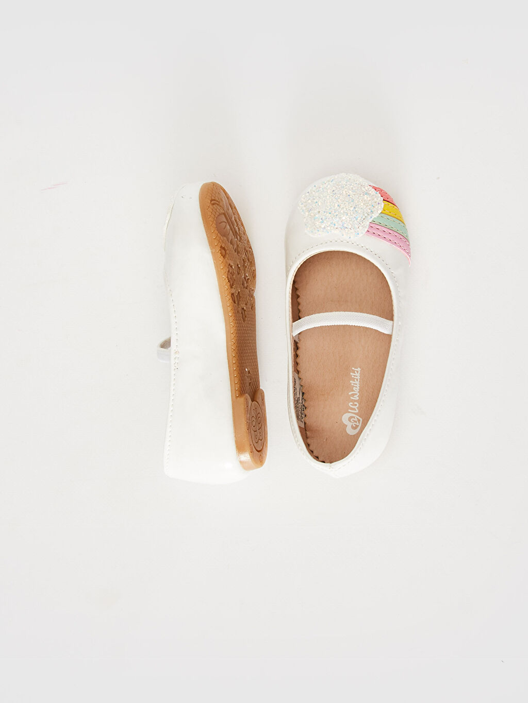 %0 Diğer malzeme (poliüretan) PU Astar Işıksız Babet Lastik Kız Bebek Renk Şeritli Payet Detaylı Babet Ayakkabı