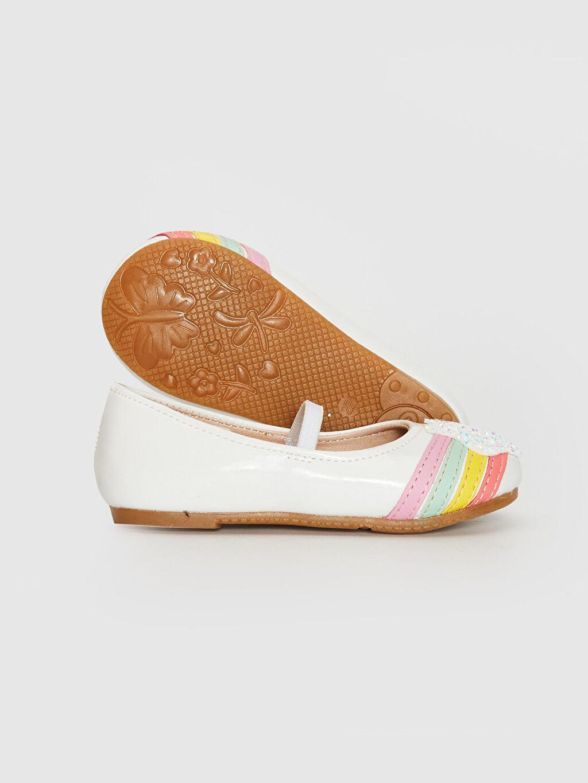 Kız Bebek Kız Bebek Renk Şeritli Payet Detaylı Babet Ayakkabı