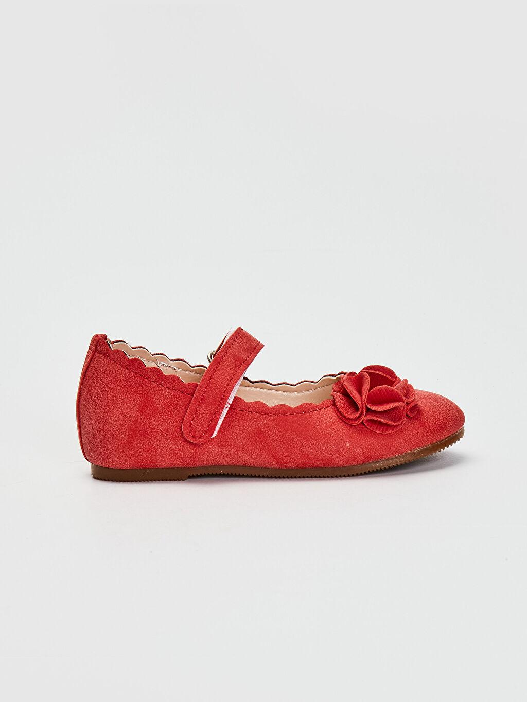 Kırmızı Kız Bebek Cırt Cırtlı Babet Ayakkabı 0SL375Z1 LC Waikiki