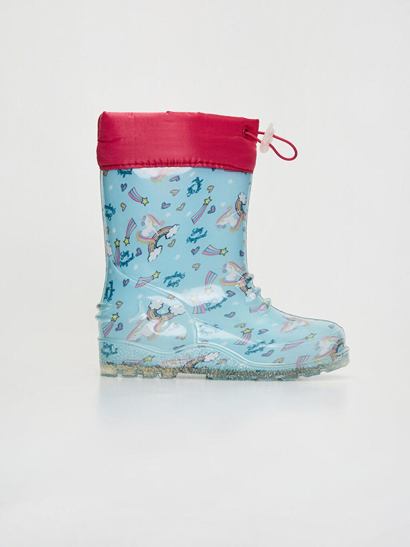 Mavi Kız Bebek Unicorn Baskılı Yağmur Botu 0SL620Z1 LC Waikiki