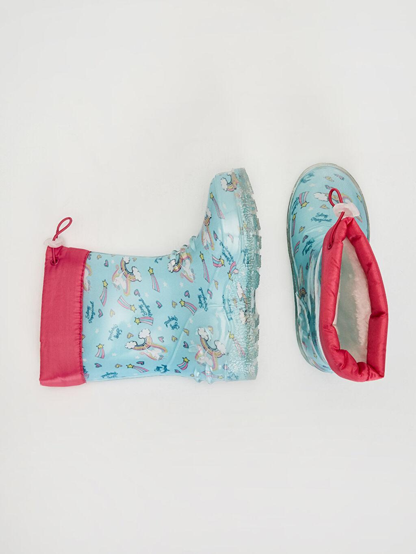 %0 Diğer malzeme (pvc) Yağmur Botu Bağcık Işıksız Kız Bebek Unicorn Baskılı Yağmur Botu