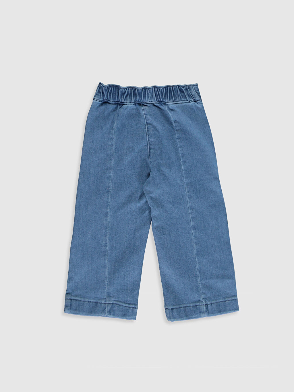%90 Pamuk %8 Polyester %2 Elastan Standart Kız Bebek Jean Pantolon