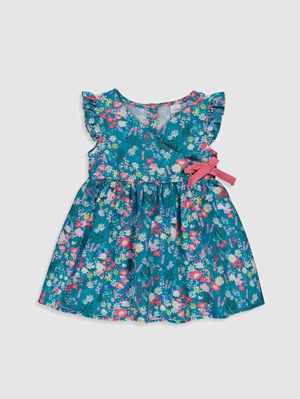 Turkuaz Kız Bebek Desenli Twiil Elbise 0SM144Z1 LC Waikiki