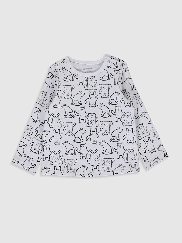 Erkek Bebek Yenidoğan Baskılı Pamuklu Tişört 2'li