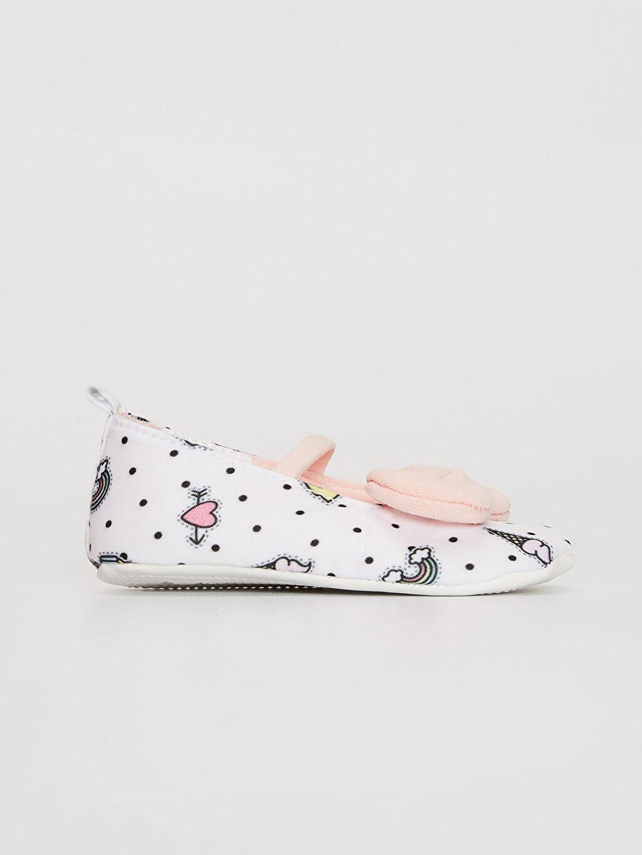 %0 Tekstil malzemeleri (%100 poliester) Işıksız Pamuk Astar Yürümeyen Lastik Kız Bebek Fiyonk Detaylı Yürüme Öncesi Ayakkabı