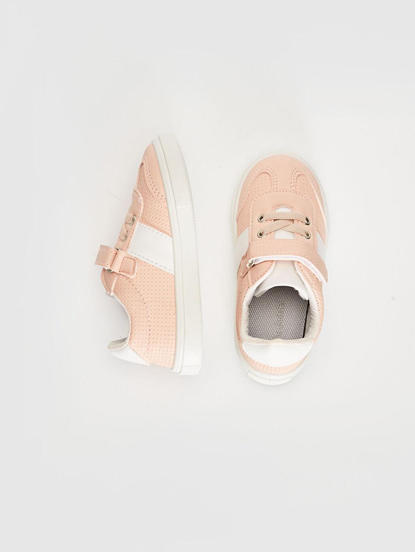 %0 Diğer malzeme (poliüretan) Sneaker Işıksız Tekstil-PU Mazleme Bağcık ve Cırt Cırt Kız Bebek Sneaker