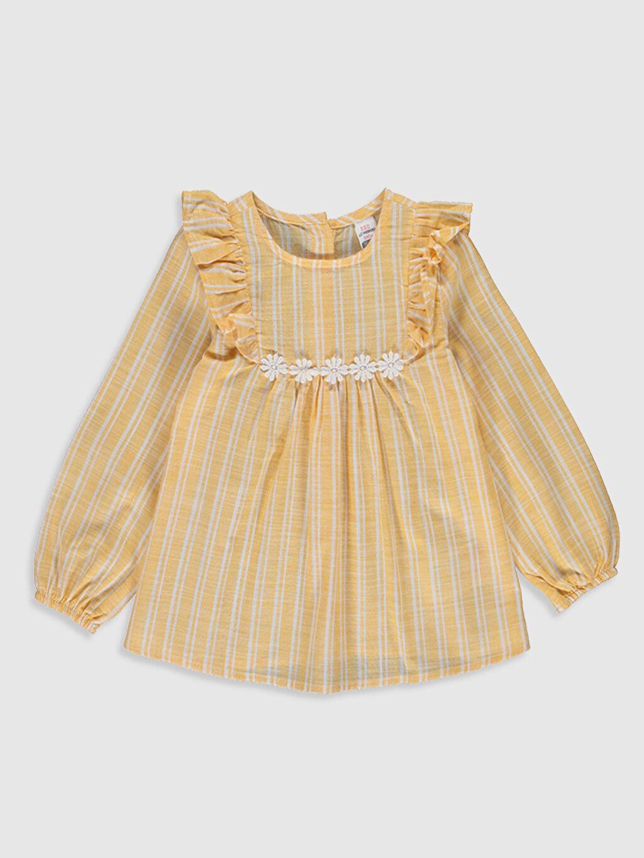 Turuncu Kız Bebek Çizgili Bluz 0SN169Z1 LC Waikiki