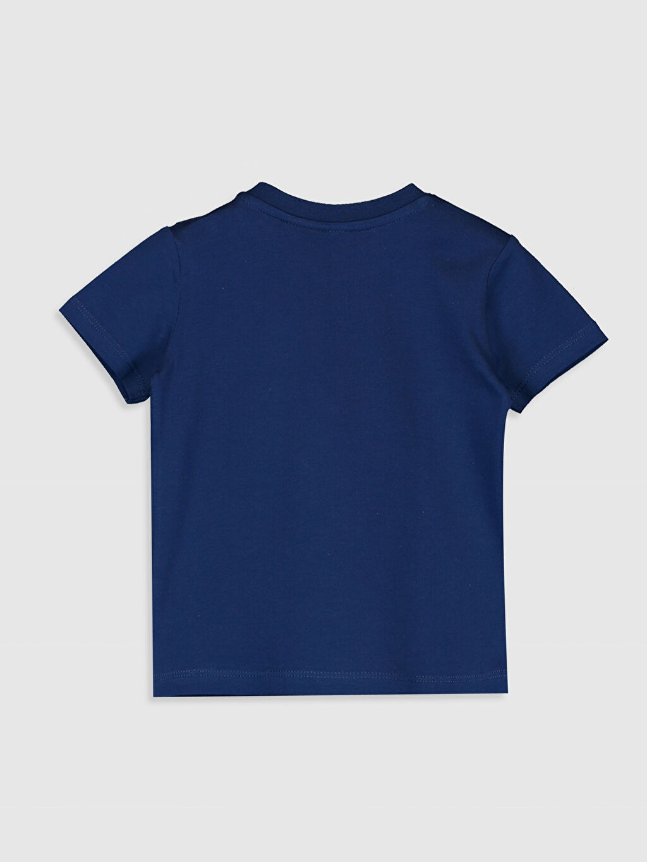 %100 Pamuk Normal Baskılı Tişört Bisiklet Yaka Erkek Bebek Mickey Mouse Baskılı Pamuklu Tişört