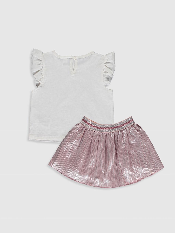 %100 Pamuk %100 Polyester %100 Pamuk  Kız Bebek Baskılı Tişört ve Etek