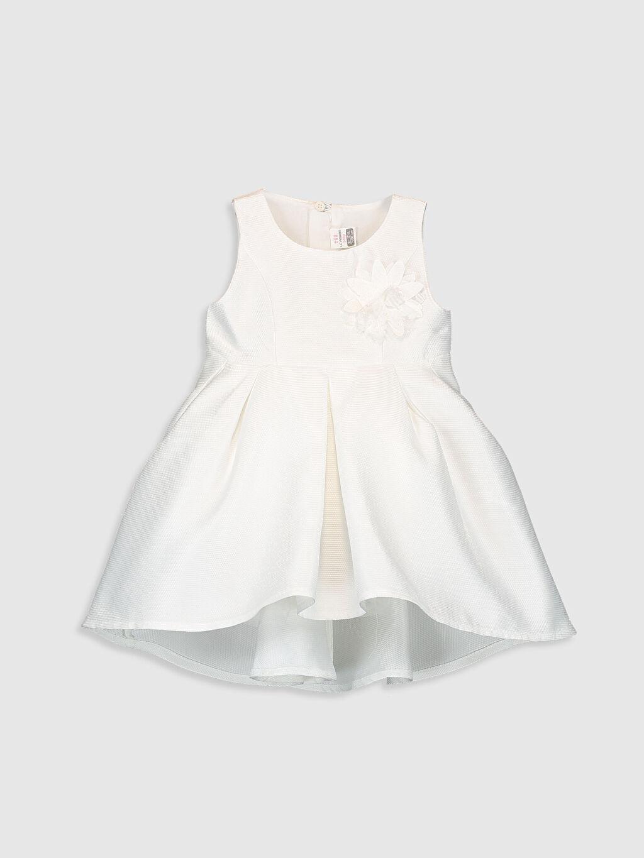 Ekru Kız Bebek Abiye Elbise 0SO451Z1 LC Waikiki