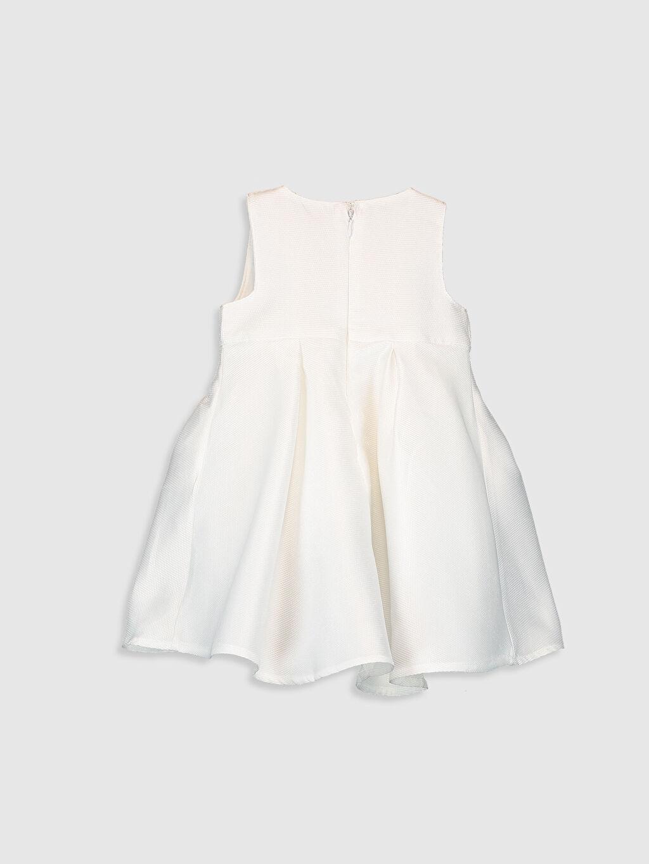 %100 Polyester %100 Pamuk Düz Kız Bebek Abiye Elbise