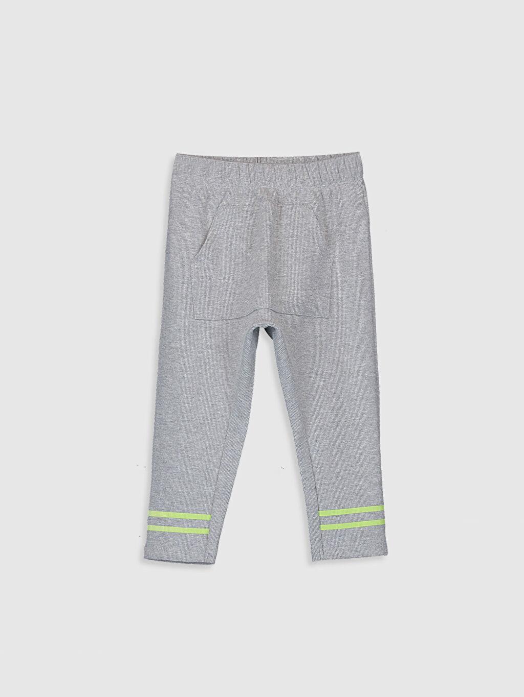 Gri Erkek Bebek Pamuklu Pantolon 0SO536Z1 LC Waikiki
