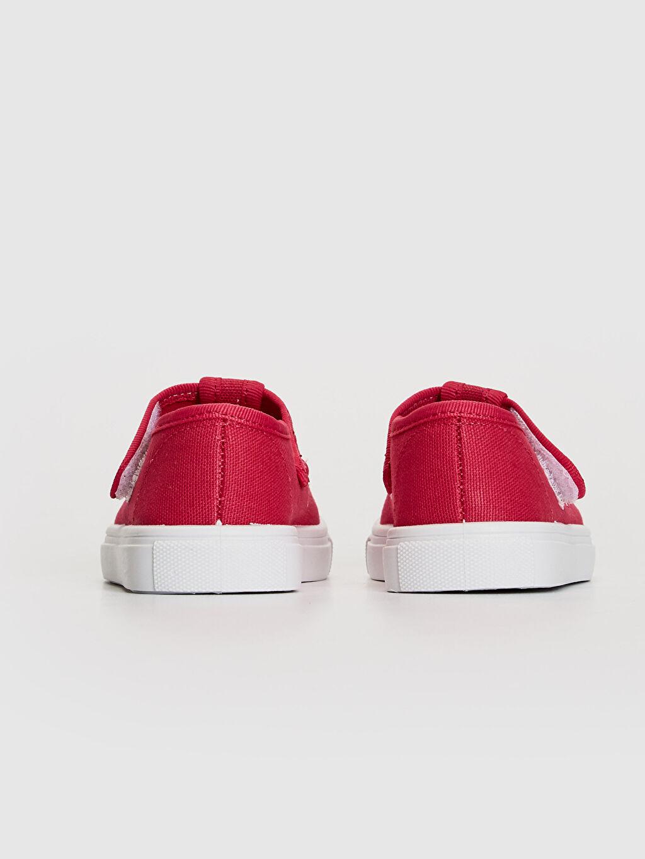 Kız Bebek Nakış Detaylı Bez Babet Ayakkabı