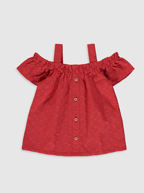 Kırmızı Kız Bebek Pamuklu Bluz 0SA593Z1 LC Waikiki