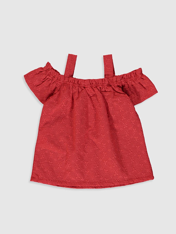 %100 Pamuk Smart Casual Kolsuz Standart Vual Bluz Düz Standart Kayık Yaka Kız Bebek Pamuklu Bluz