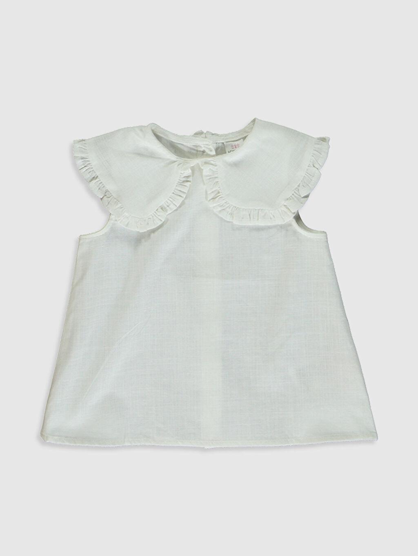 Beyaz Kız Bebek Basic Keten Bluz 0SA607Z1 LC Waikiki