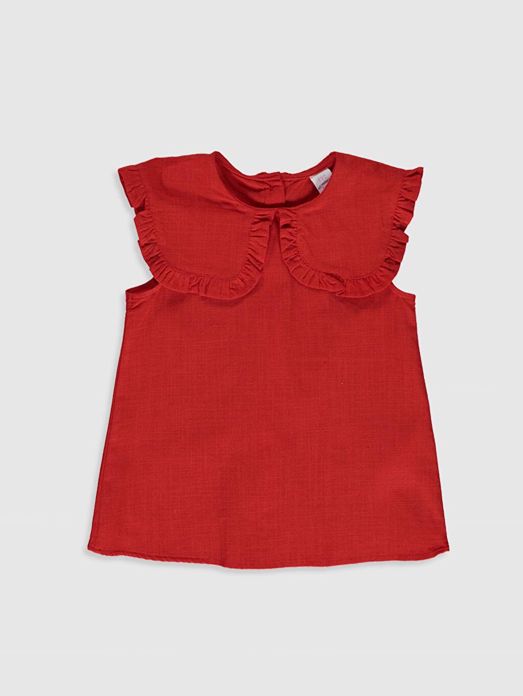 Kırmızı Kız Bebek Basic Keten Bluz 0SA607Z1 LC Waikiki