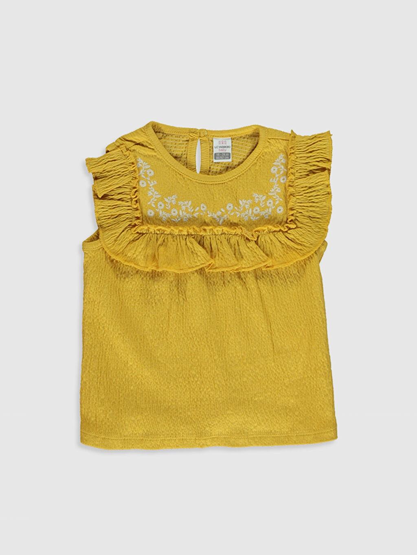 Sarı Kız Bebek Pamuklu Atlet 0SA632Z1 LC Waikiki