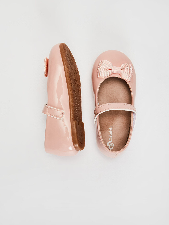 %0 Diğer malzeme (poliüretan) Cırt Cırt PU Astar Işıksız Babet Kız Bebek Fiyonk Detaylı Rugan Babet Ayakkabı