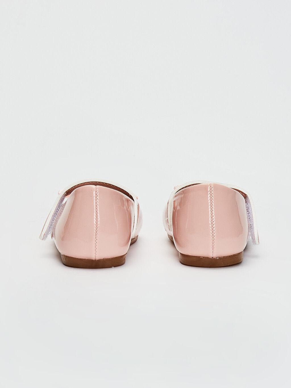 Kız Bebek Fiyonk Detaylı Rugan Babet Ayakkabı