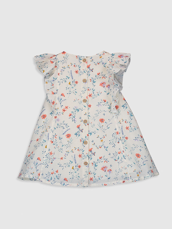 %100 Pamuk %100 Pamuk %100 Pamuk Elbise Standart Baskılı Günlük Poplin Kız Bebek Baskılı Pamuklu Elbise