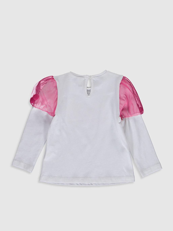 %100 Pamuk Standart Baskılı Uzun Kol Tişört Bisiklet Yaka Kız Bebek Baskılı Pamuklu Tişört